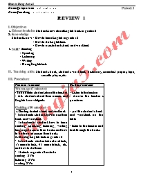 Giáo án Tiếng Anh Lớp 12 (Cơ bản) - Chương tr