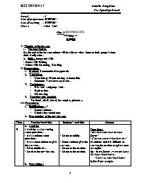 Giáo án Tiếng Anh Lớp 12 - Unit 1: Home life