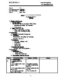 Giáo án Tiếng Anh Lớp 12 - Unit 2: Cultural d