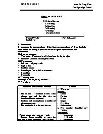 Giáo án Tiếng Anh Lớp 12 - Unit 6: Future job